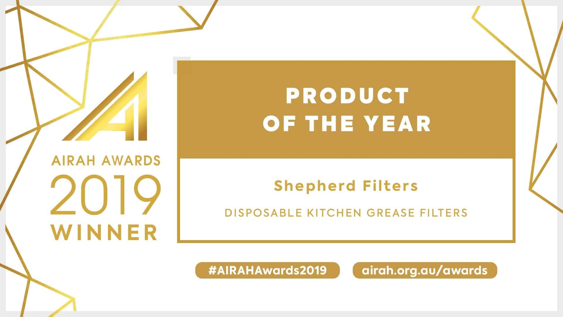 AIRAH Product of the Year Winners 2019 - Shepherd Filters
