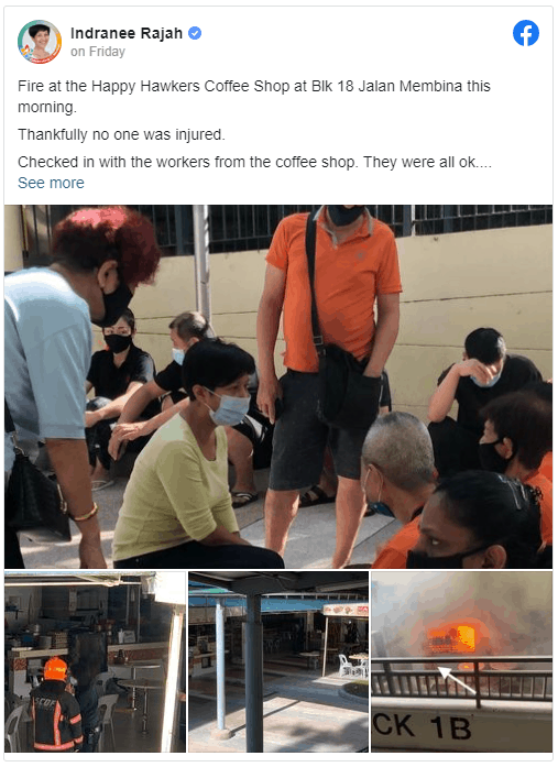 kitchen exhaust duct fire at Tiong Bahru Coffee Shop